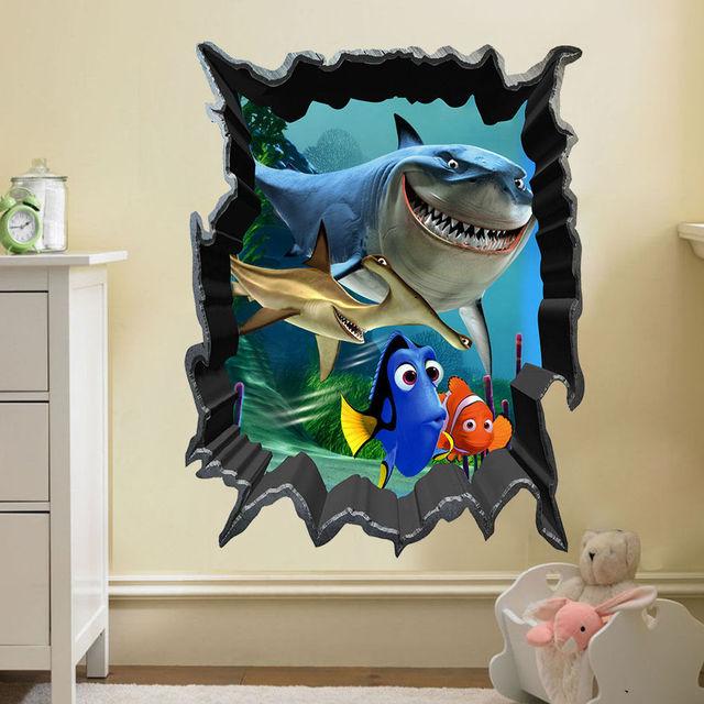 Aliexpress.com : Buy Finding Nemo Bruce Dory Fish 3D View Art Wall ...