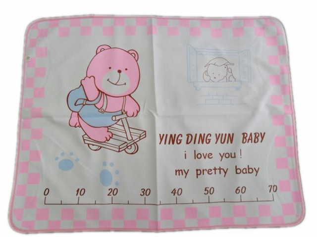 Cartoon Bear  Baby Changing Mat Newborn Baby changing pads water-proof baby Diapers 4 Layer Inserts Cotton Washable Bed sheet