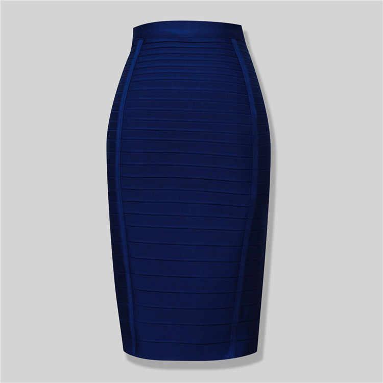 4 色高品質膝丈ボディコンスカート包帯女性クラブファッションパーティースカート