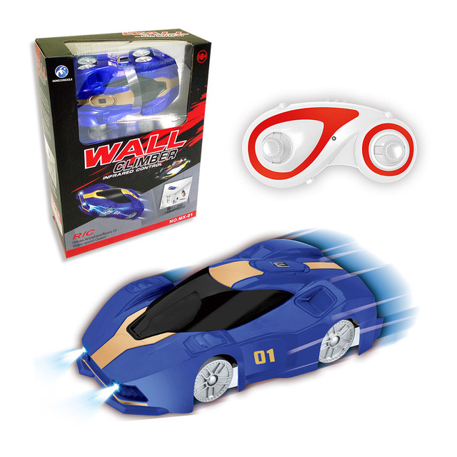 Remote Control Wall Climbing Car RC Car With LED 360 Degree Rotating Stunt Toys Mntigravity Machine Wall Racer For Kids