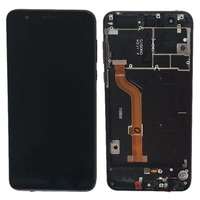 Black LCD Display Glass Touch Screen Digitizer Assembly Frame For HuaWei Honor 8