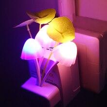 Novelty Fungus Night Light EU & US Plug Induction AC110V-220V 3 LEDs Mushroom Lamp led night lights