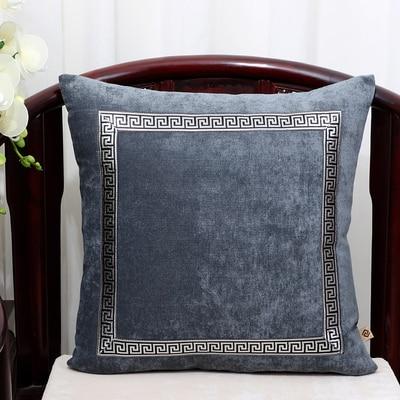 Высококлассное роскошное кружевное бархатное покрытие для подушки Чехол Рождественская Подушка Чехлы для дивана стула декоративная наволочка Подушка - Цвет: Темно-серый