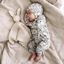 Одежда для новорожденных мальчиков и девочек с рисунком Совы; комбинезон шапка; комплект одежды из органического хлопка; одежда для малышей; meisje kleding
