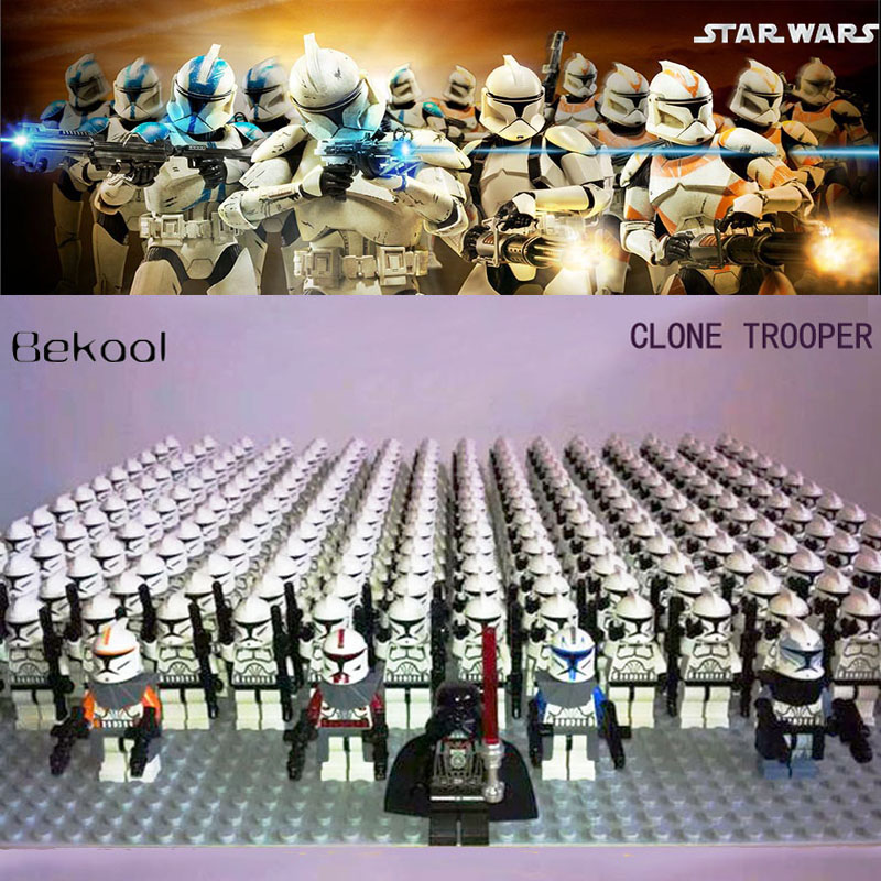 Mini Toys Block Legoe Imperial Storm Fox-Captain Clone Trooper Wolfpack-Commander Custom title=