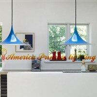 Restaurant Cafe Bar chandeliers, pointed hat horn chandelier lighting, material: aluminum, AC110 240V