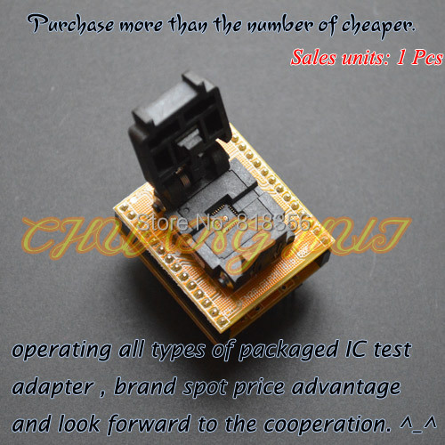 QFN28 to DIP28 Programmer Adapter  WSON28 DFN28 MLF28 IC TEST SOCKET 5X5mm Pitch=0.5mm fshh qfn32 to dip32 programmer adapter wson32 udfn32 mlf32 ic test socket size 3 2mmx13 2mm pin pitch 1 27mm