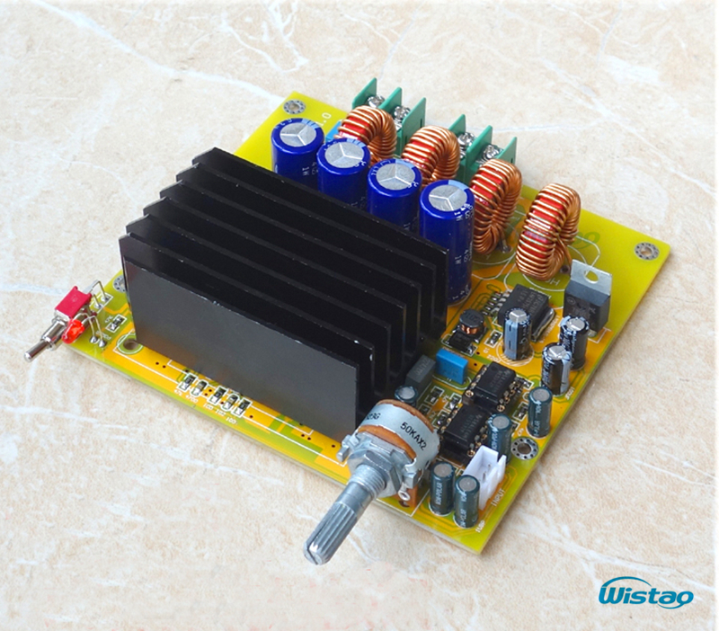 TAS5630 Amplifier Class D Board High-power Finished Boards Mono 600w for Subwoofer or Full Range DIY Free Shipping yj tas5630 2 1 high power digital power amplifier board 1200w class d amplifier board 600w 600w free shipping