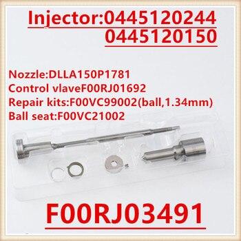F00RJ03491 D'injection de Carburant Diesel Kits de Révision DLLA150P1781 Buse F 00R J03 491 F00R J03 491 pour Injecteur 0445120244, 0445120150