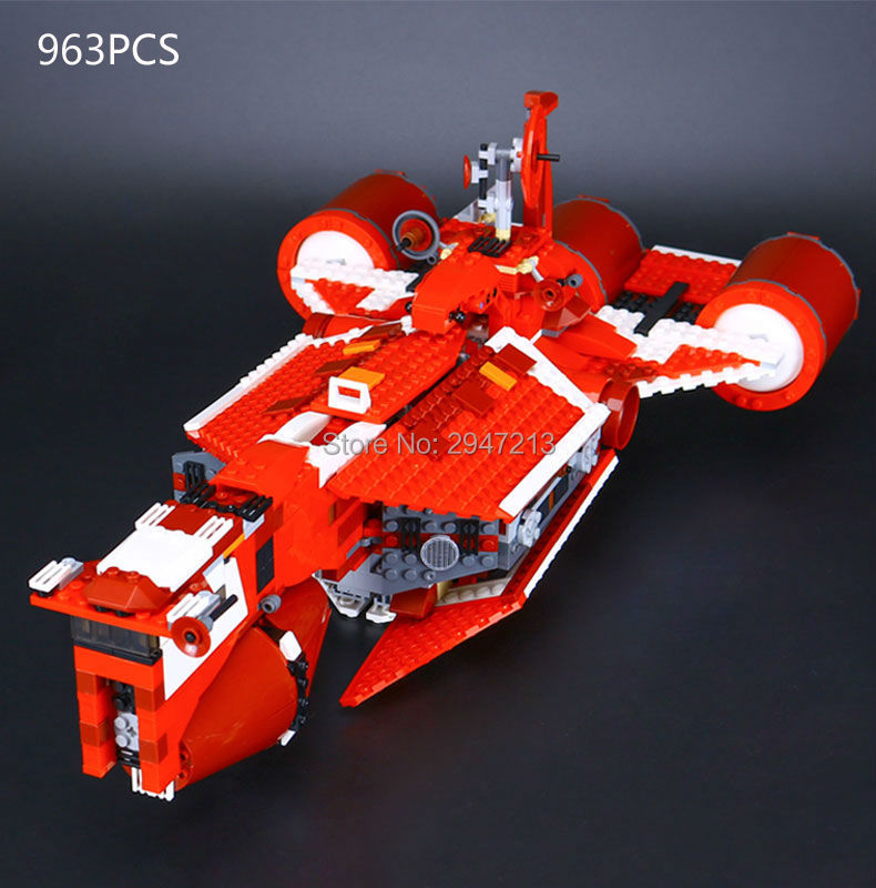 2017 hot compatible LegoINGlys Star Wars air weapons brick the republic cruiser model building blocks Toys for children gift star wars the old republic в латвии