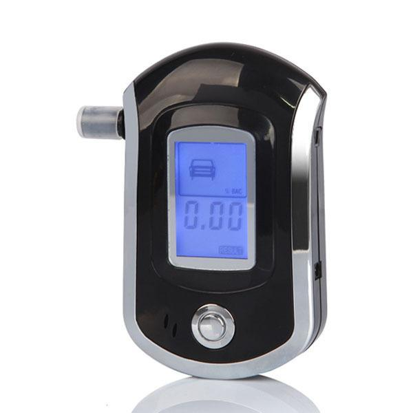 Professional Mini Police Digital LCD Screen Breath Alcohol Tester Breathalyzer AT6000 Parking Car Detector Gadget alcool Meter