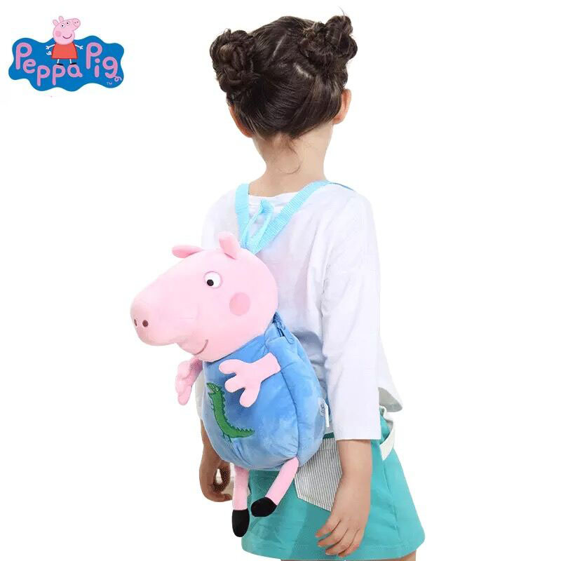 100% Genuine peppa pig 44cm Children's bags George Peppa Plush Backpack Kids Birthday Christmsa toy gift Hot sale