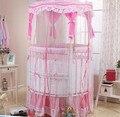 Cama de bebé gemelo circular multi-función de juego BB cama de madera sólida pintura de protección del medio ambiente con mosquiteros