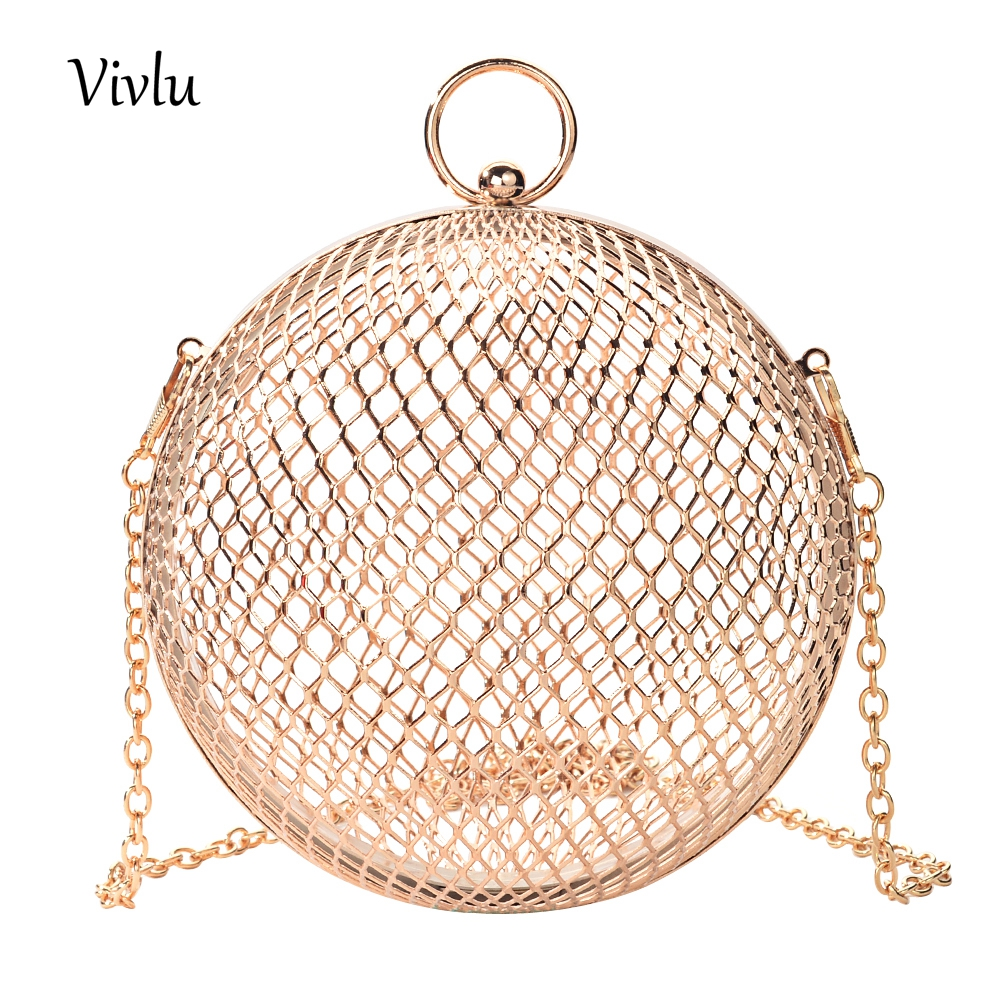 Shoulder Bags Toyoosky Fashion Design Personality Hollow Metal Cages Party Clutch Evening Bag Women Shoulder Bag Ladies Handbag Messenger Bags