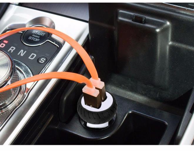 Новые автомобильные аксессуары 3.1A Dual USB профессиональное автомобильное зарядное устройство 2 порта ЖК-дисплей 12-24 в прикуриватель для смартфона