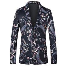 Floral Men Suit Jacket Tuxedos Flower Mens Blazer Fashion Casual Stage Blazers and New blazer masculino