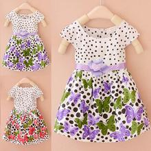 Short Sleeve Polka Dots Butterfly Dresses