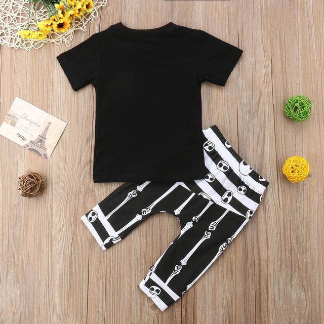 Baby Boy Halloween  skeleton Outfits