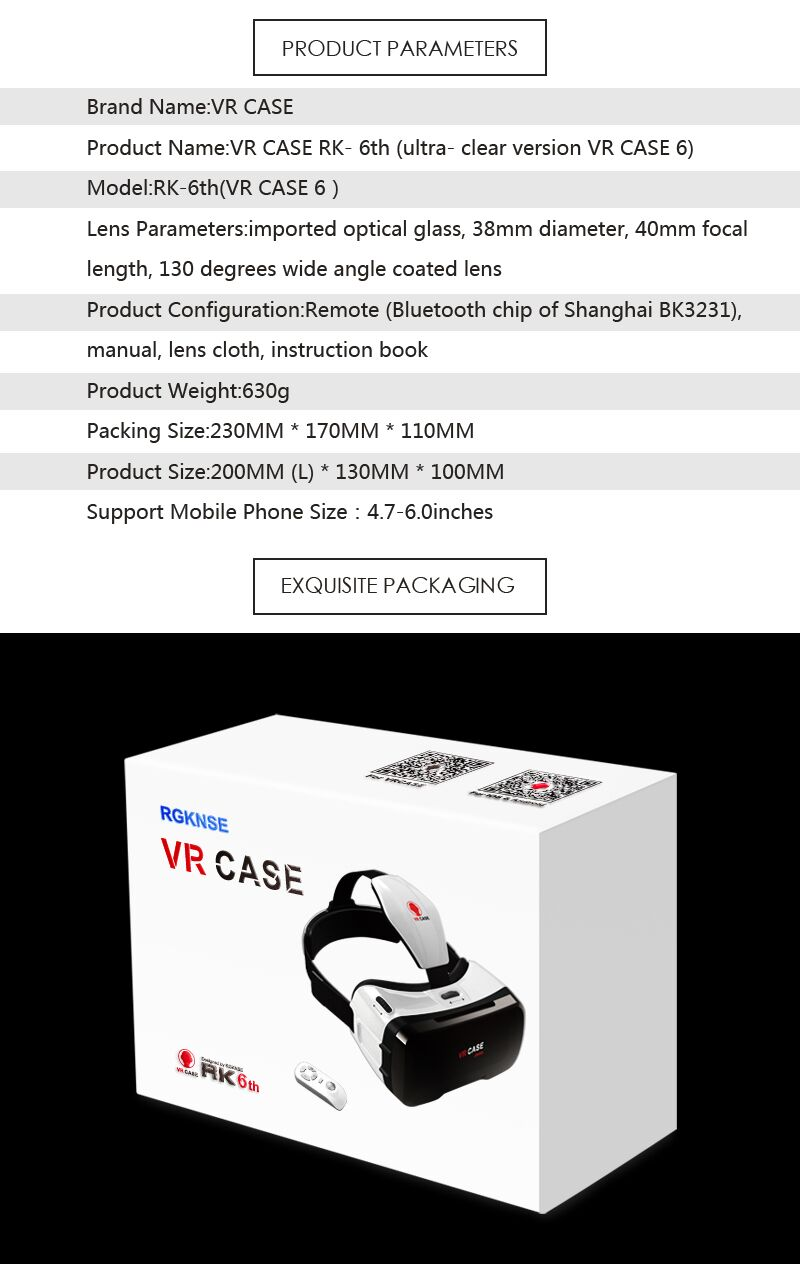 Virtual Reality Glasses VR Box Rirtual Reality Helmet Touch Function 3D Glasses VR Wearing Equipment 25