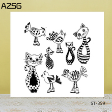 Zhuo Ang Animal celebration  Clear Silicone Stamp/Seal for DIY Scrapbooking/Photo Album Decorative Card Making Stamps