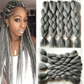 24inch Gray Braiding Hair extensions Jumbo Kanekalon Brading Hair Whosale Xpressions synthetic Hair Crochet braid Hair