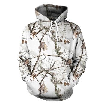 Los hombres de camuflaje con capucha camisa par jersey con capucha suéter camisa caza hombres camisa ropa de caza de pesca Pesca camisa Camping Sudadera con capucha