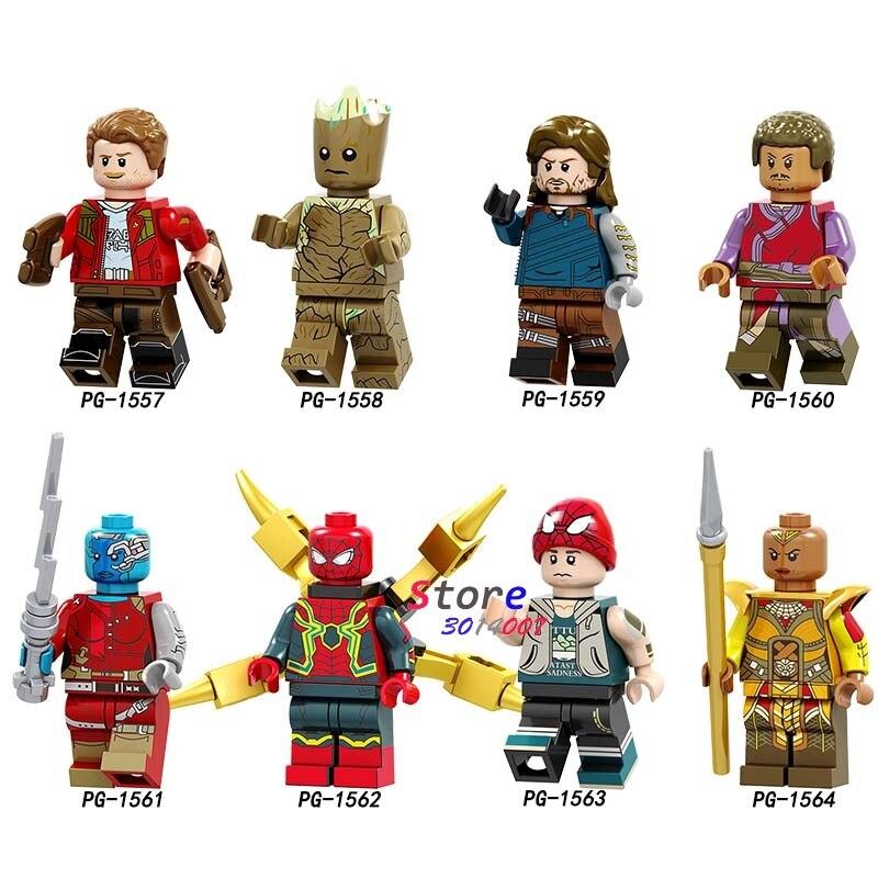 10Set Marvel Comics Serie 1 Avengers Iron Man Loki Black Widow Thor Hawkeye Captain America Model Bricks Kinderen Speelgoed-in Blokken van Speelgoed & Hobbies op  Groep 1