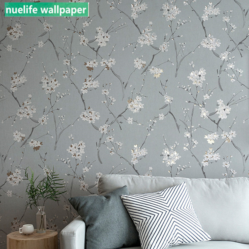 Nordic Style Small Floral Pattern Non-woven Wallpaper Living Room Study Wedding Room Dining Room Bedroom TV Background Wallpaper