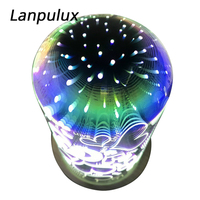 Lanpulux Fireworks Glass Night Light Magic Colorful 3D Star Love Light Fixtures Atmosphere Luminaria Creative Cool Holiday Gifts