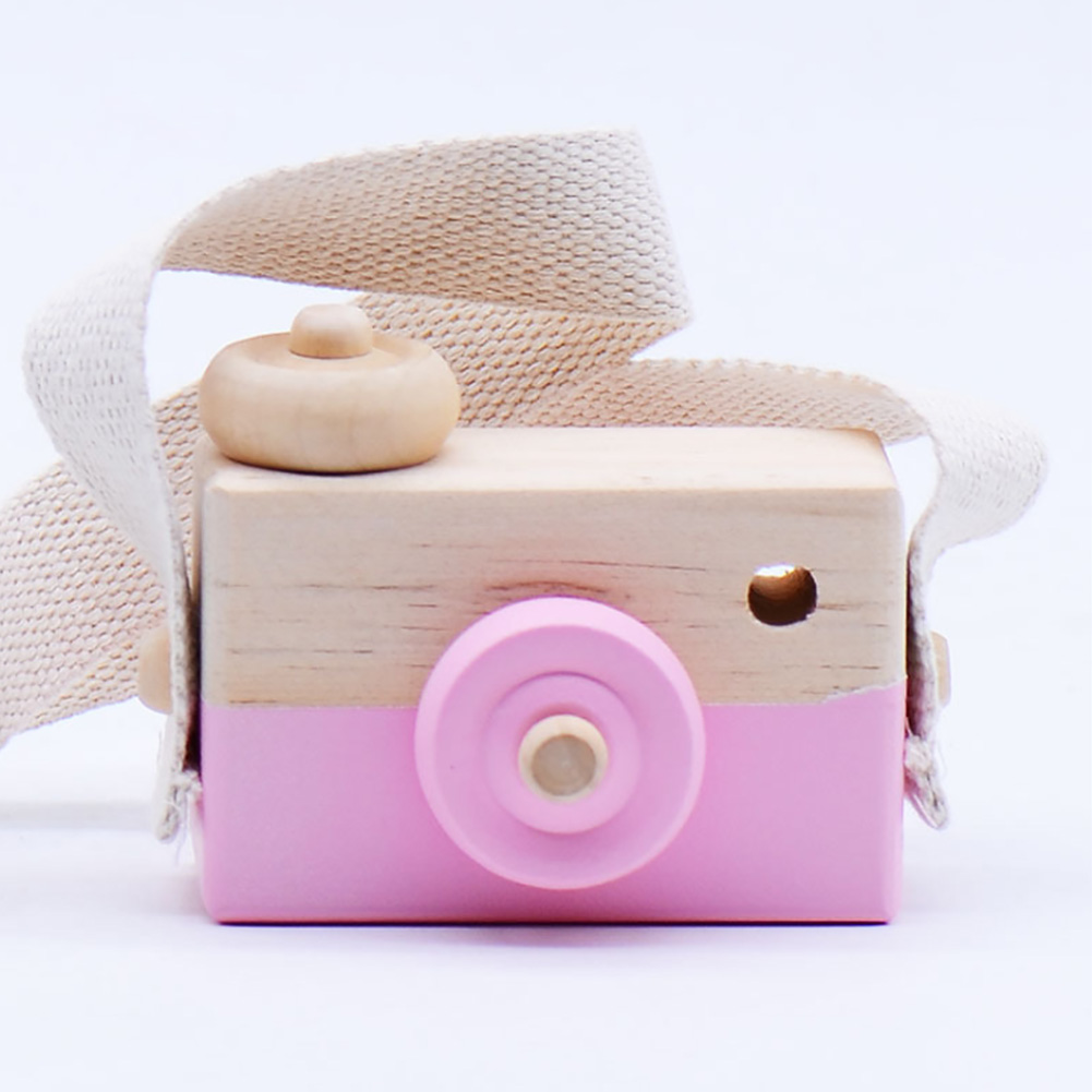 Camera Eco-friendly Handcraft Birthday Gifts Toy Decoration Wooden Children Cute Kids Photography Props
