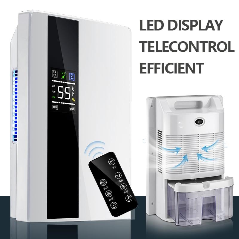 Nouvelle télécommande Ménage déshumidificateur Silencieux Séchage machine Sécheur D'air Avec 24 h Timing Smart Déshydratant Double Système de Drainage