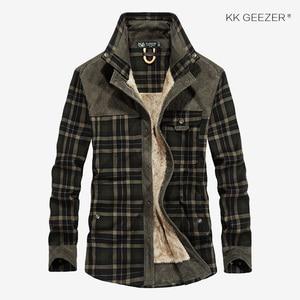 Image 3 - Camicia di flanella Uomini Militare Plaid Panno Morbido di Inverno Caldo Cappotto di Spessore 100% Cotone di Alta Qualità di Tasca Camicette Manica Lunga Dropshipping