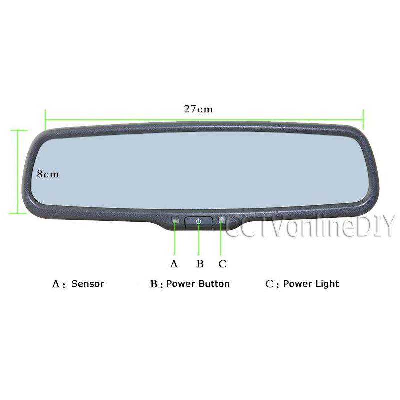 ANSHILONG OEM Auto Dimming Rear View Mirror with 4.3 inch 800*480 Resolution TFT LCD Car Monitor Built in Special Bracket-in Car Monitors from Automobiles & Motorcycles    3