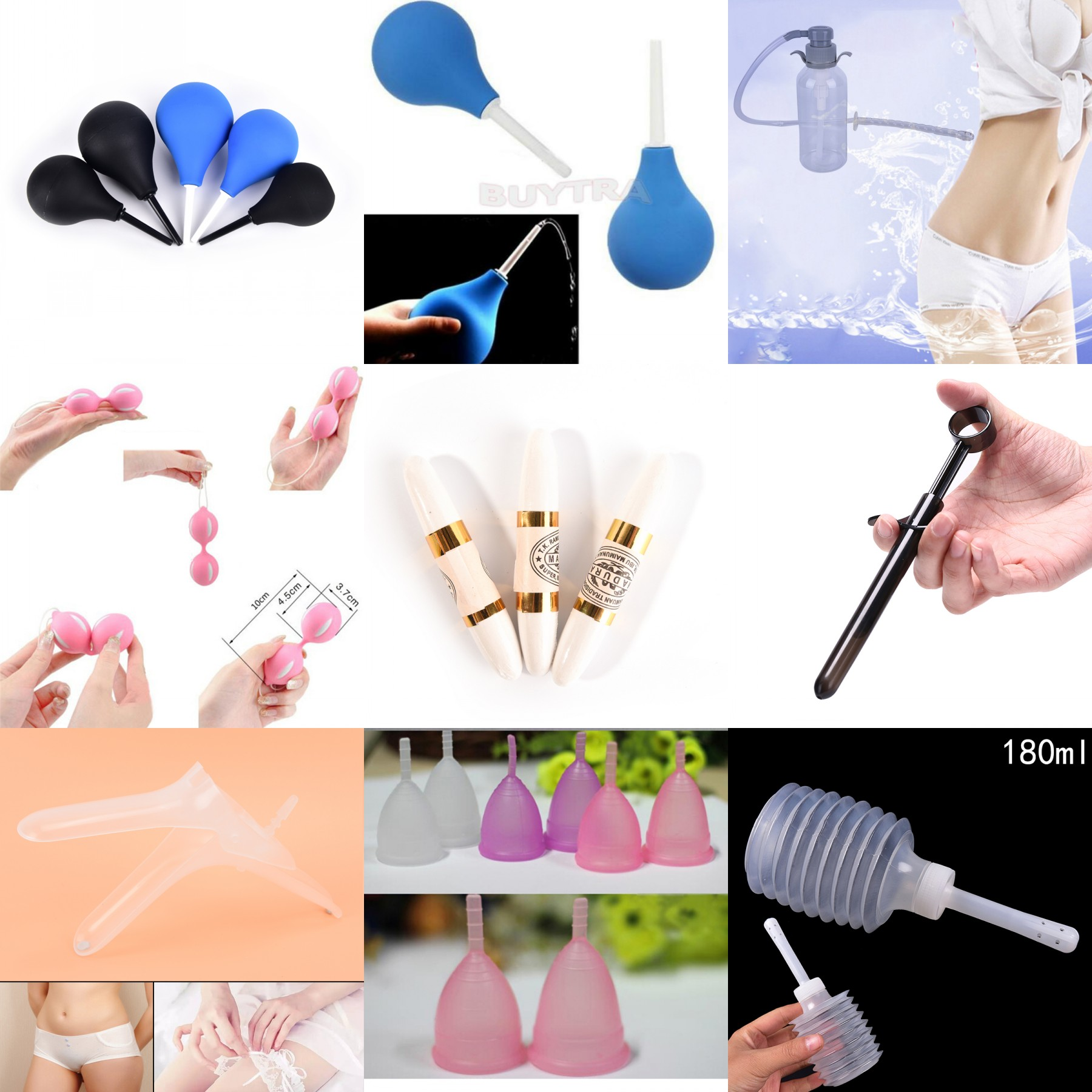 Medical Anal Cleaner Enema Cleaning Container Vagina Cleaner Douche Enema Bulb Women Men Rubber Health Hygiene Tool