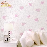3D Cartoon Love Environmental Non Woven Wallpaper Children S Room Bedroom Cute Pink Princess Room Background