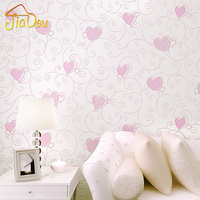3D Cartoon Love Environmental Non Woven Wallpaper Children S Room Bedroom Cute Pink Princess Room Background