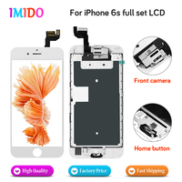 Full Set LCD Display For iPhone 6s LCD Display Home button+Front camera with 3D Touch Screen Digitizer Assembly No Dead Pixel