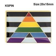 ストレート同盟国バッジ記号ピン金属バッジ装飾ブローチピン服ブローチジュエリー XY0152