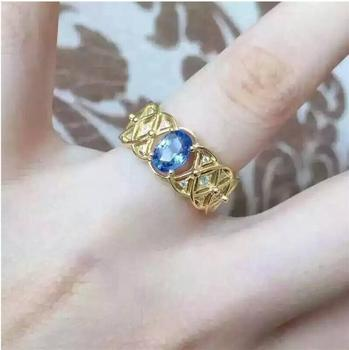 Tanzanite ring Free shipping Natural real tanzanite 925 sterling silver Per jewelry 5*7mm