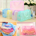 3Pcs/set Lovely Floral Print Jelly  Wash Bag Transparent Waterproof Toiletry Bathing Pouch Travel Bags Necessary Makeup Tool Kit