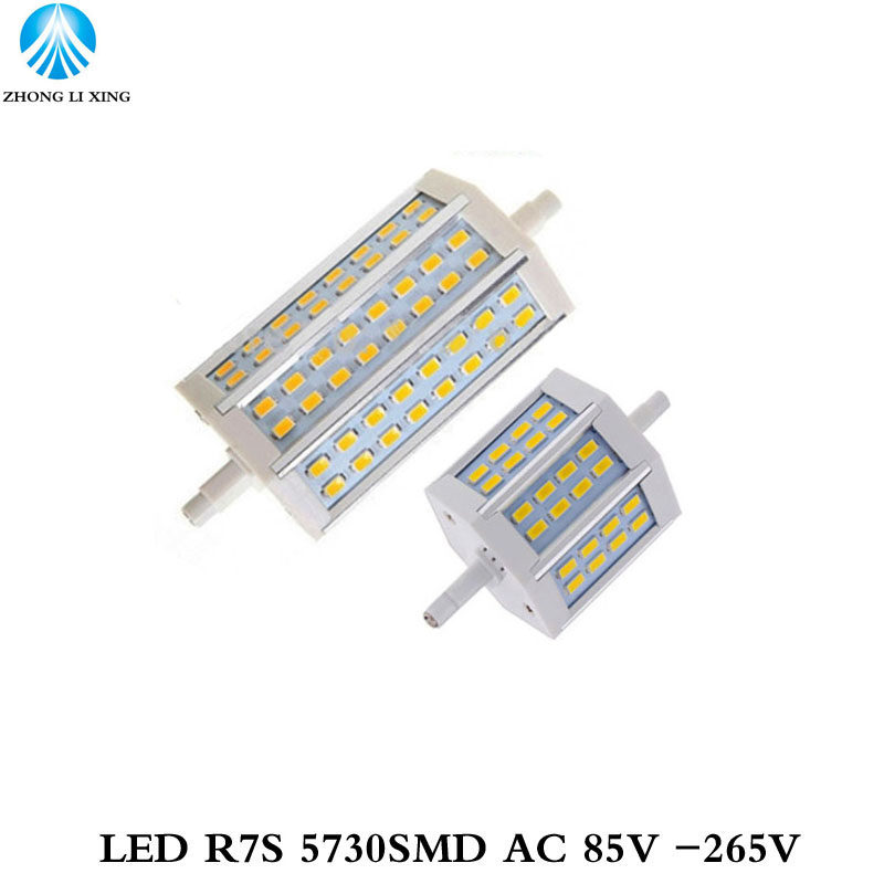 1x R7S 12W 25W 78mm 118mm led Bulb Floodlight bulb R7S light J118 R7S lamp NO fan NO noise replace halogen lamp AC85-265V new arrival no flicker cob r7s led lamp 10w r7s 78mm led r7s light bulb 85 265v replace halogen spot light r7s 78 energy saving