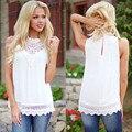 Новые Моды для Женщин Жилет Без Рукавов Рубашки Блузка Лето Случайные Свободные Топы lave танков camisetas mujer