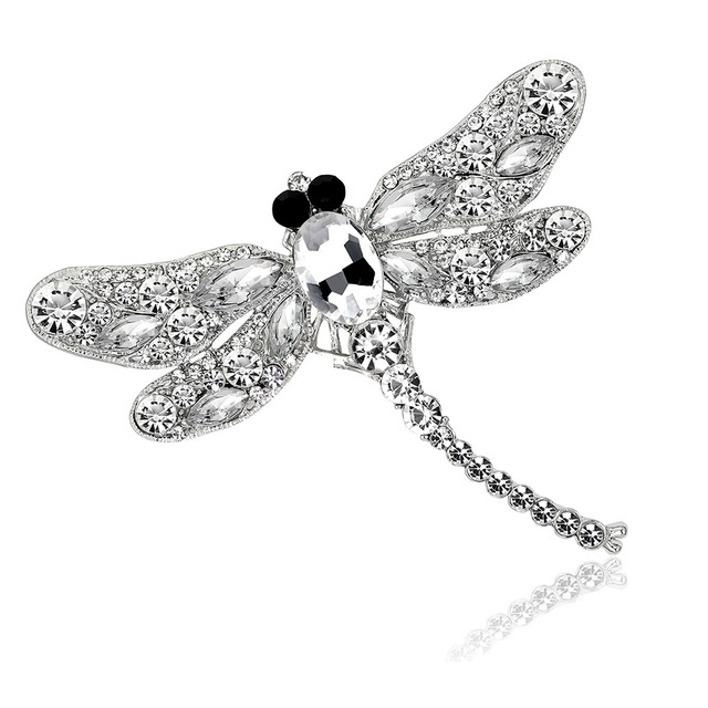 MINHIN Vintage Dragonfly Brooches for Women Personality Insect Brooch Pins Fashion Dress Scarf Coat Accessories Gift