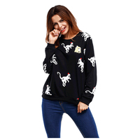 Pluse Size Women S New Casual Weatshirt Spring Autumn Fashion Tops Ladies Warm Cute Monkey Print
