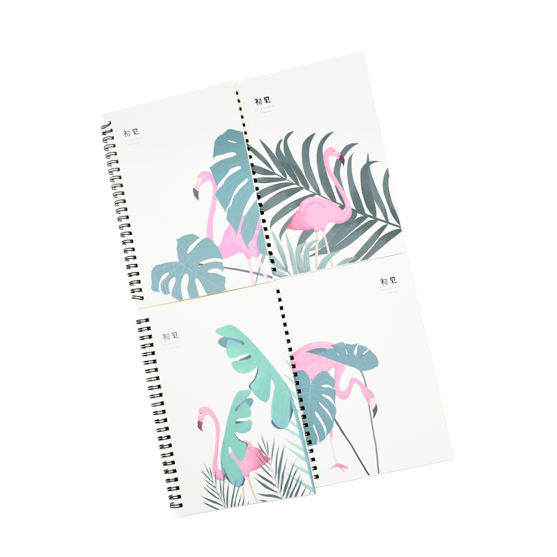 1pcs Simple And Cute Cartoon Style A5 Double Coil Notepad School Office Record Notebook