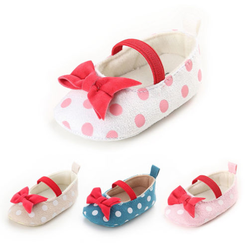 2018 Infant Baby Kids Soft Sole Princess Shoes Girl Toddler Crib Bow Moccasin Shoes