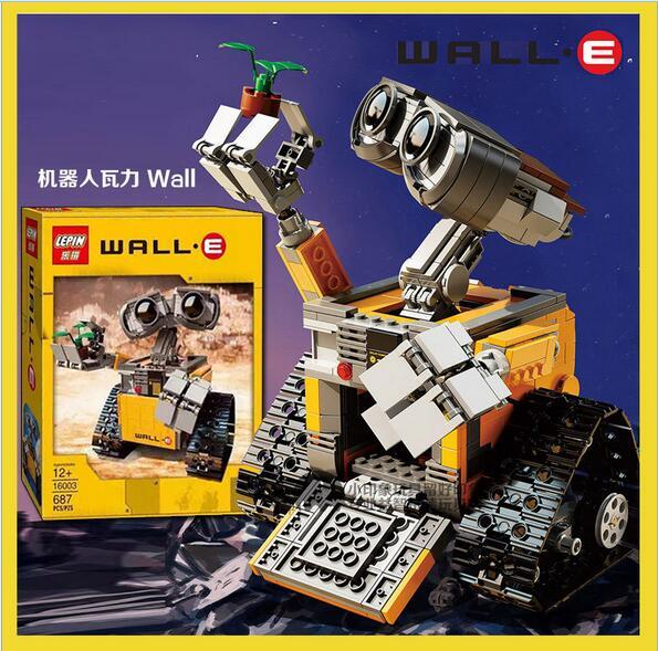 Jouet de film de thème de robot de wall-e assemblé éducatif de vente chaude d'enfants 687 pièces assemblé des idées de bloc série jouets de petite enfance