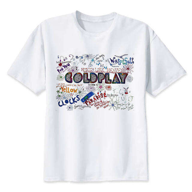 coldplay T shirt Hip Hop Style New Original Design T shirt Cool ...