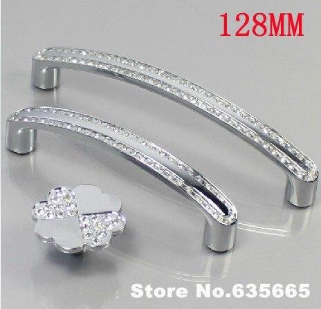 Modern Crystal Diamond 128MM Furniture Handles Hardware Knobs Pull Drawer  Wardrobe Kitchen Cabinets Cupboard Door Accessories