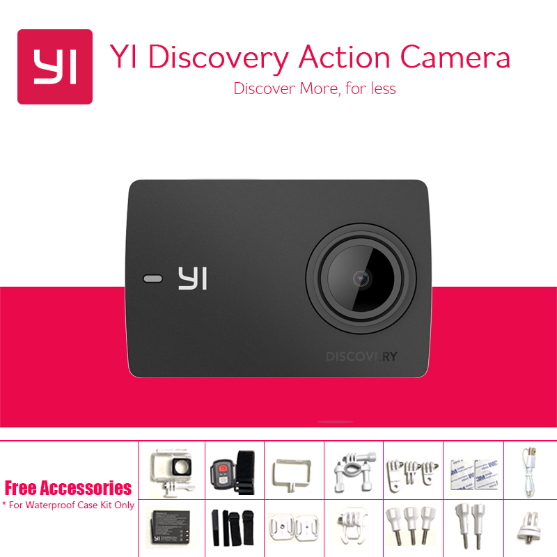 International Version Yi Discovery Action Camera 4K 20fps 8MP 16MP WIFI 1080P 60fps Waterproof 150 Degrees